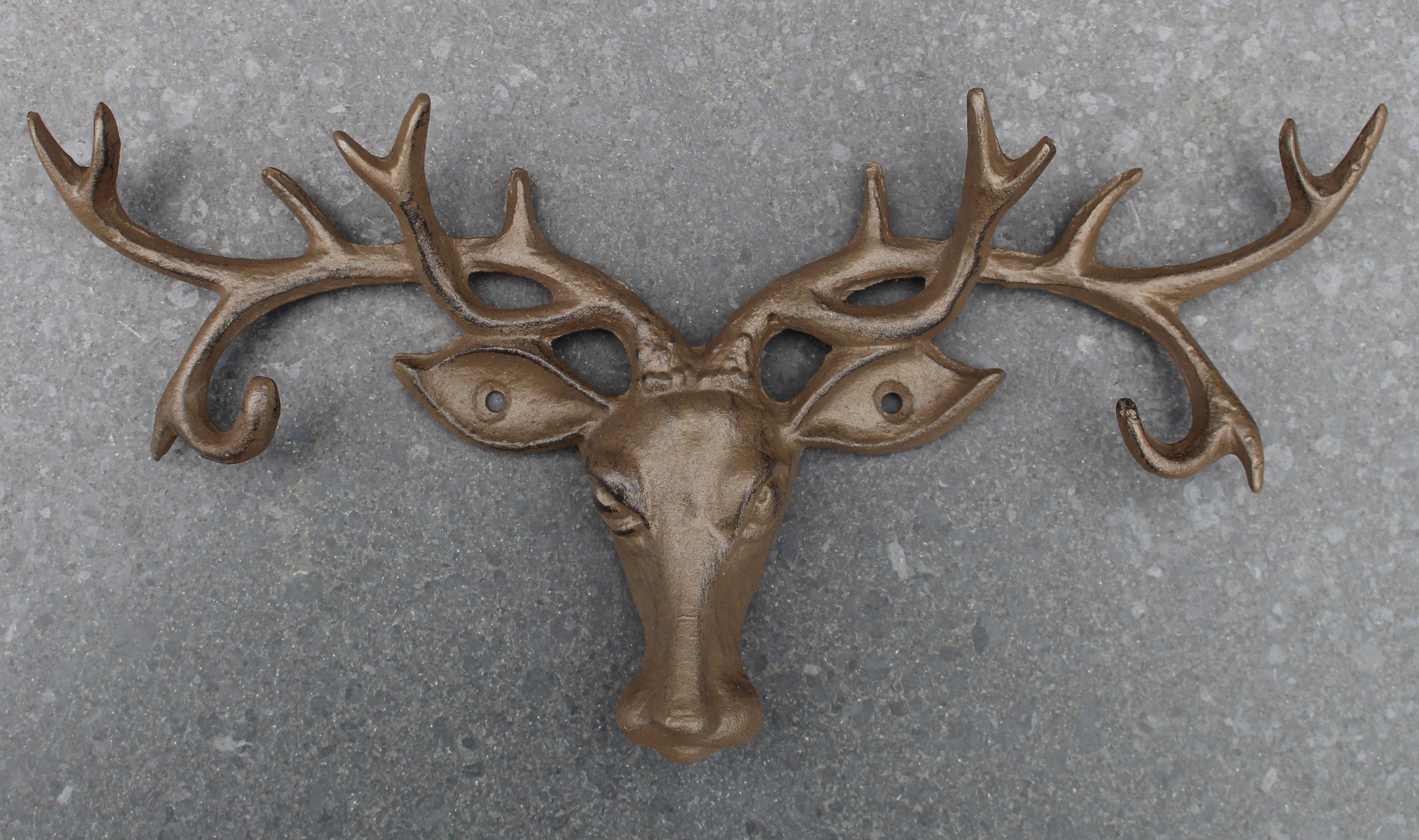 Kapstok met meer haken robanjer kapstokhaken for Decoratie hertengewei